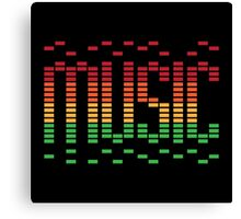Music Equalizer Canvas Print