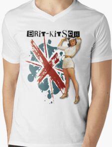 The Kitsch Bitsch : Brit-Kitsch Pin-Up Mens V-Neck T-Shirt