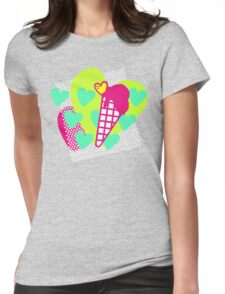 Neon Icecreams Womens Fitted T-Shirt