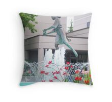 WATER FOUNTAIN OF A LADY Throw Pillow