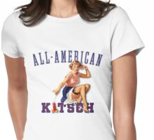 The Kitsch Bitsch : All-American Kitsch Pin-Up Womens Fitted T-Shirt