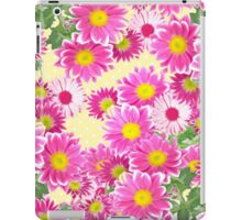 Pink white daisies floral polka dots pattern iPad Case/Skin