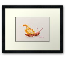 Raspberry Ripple Ice Cream Snail Framed Print