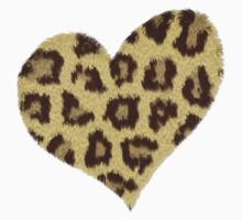 Heart Jaguar Print Long Sleeve Shirt by Lallinda