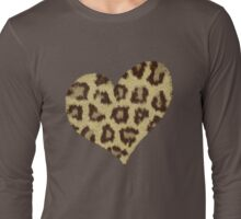 Heart Jaguar Print Long Sleeve Shirt Long Sleeve T-Shirt