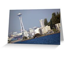 View From Alki Greeting Card