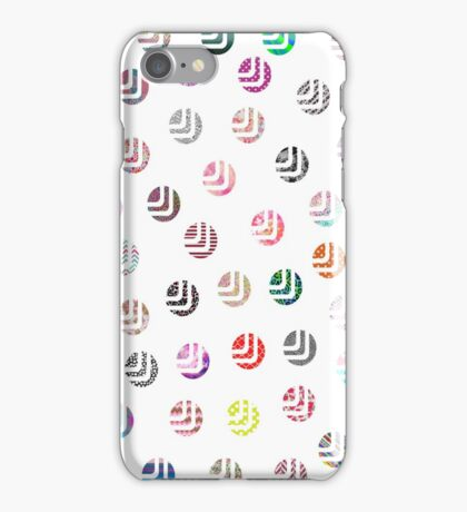 Girly pink patterns modern polka dots pattern iPhone Case/Skin
