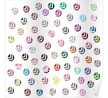 Girly pink patterns modern polka dots pattern Poster