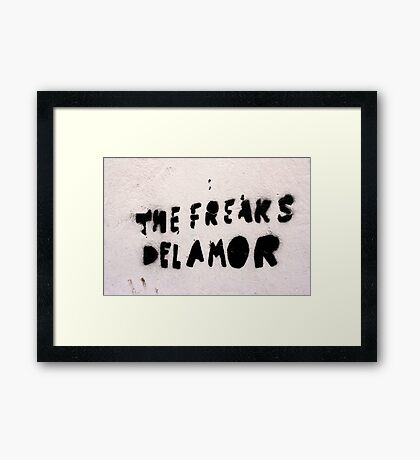 The Freaks of Love Framed Print