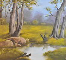 Woodland Spring by Paul Jenkins