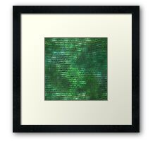Green Metallic Dragon Scales Framed Print