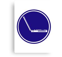 LAPTOP ICON PARKING ROAD SIGN Canvas Print