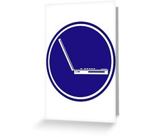 LAPTOP ICON PARKING ROAD SIGN Greeting Card