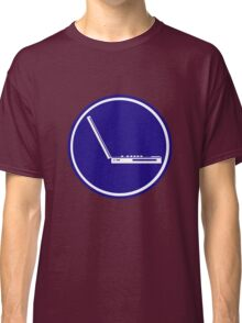 LAPTOP ICON PARKING ROAD SIGN Classic T-Shirt