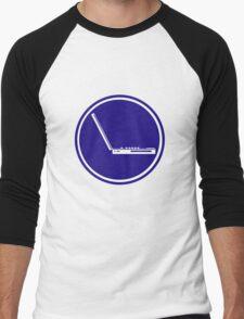 LAPTOP ICON PARKING ROAD SIGN Men's Baseball ¾ T-Shirt