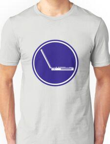 LAPTOP ICON PARKING ROAD SIGN Unisex T-Shirt