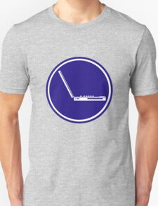LAPTOP ICON PARKING ROAD SIGN T-Shirt