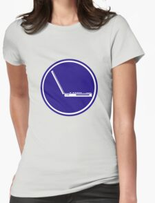 LAPTOP ICON PARKING ROAD SIGN Womens Fitted T-Shirt
