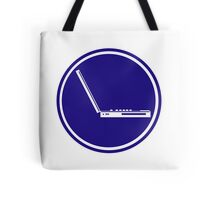 LAPTOP ICON PARKING ROAD SIGN Tote Bag