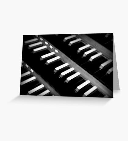 Organ Keys Greeting Card