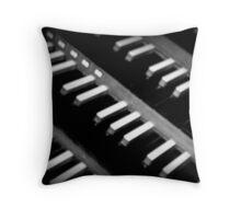 Organ Keys Throw Pillow