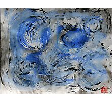 swirling blue Photographic Print