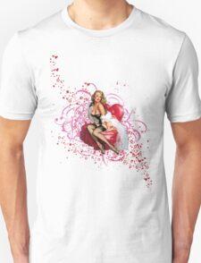The Kitsch Bitsch : Pretty in Pink Pin-Up Unisex T-Shirt