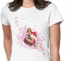 The Kitsch Bitsch : Pretty in Pink Pin-Up Womens Fitted T-Shirt