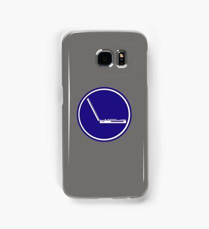 LAPTOP PARKING ROAD SIGN Samsung Galaxy Case/Skin