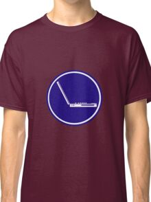 LAPTOP PARKING ROAD SIGN Classic T-Shirt