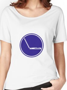 LAPTOP PARKING ROAD SIGN Women's Relaxed Fit T-Shirt