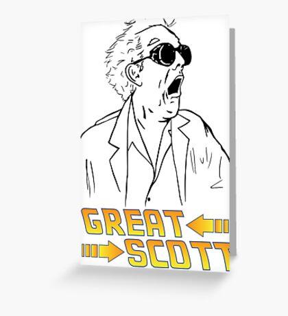BTTF Great Scott Greeting Card