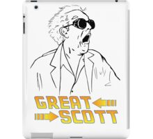 BTTF Great Scott iPad Case/Skin