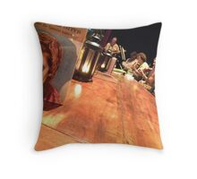 Little Red Bistro Throw Pillow