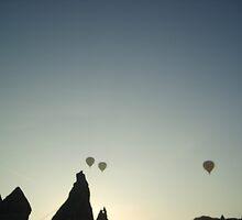 Balloons at Sunset  by AYFER HAKKI