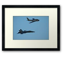 Sabre And Hornet @ Temora Airshow 2009 Framed Print