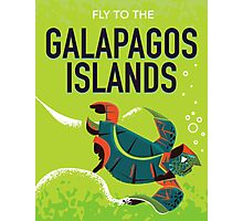 Galapagos Islands vintage travel poster art. Photographic Print