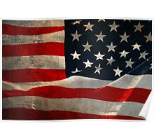 American Flag - Texture Poster