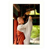 Ringing the Bell - Beopju Temple, South Korea Art Print