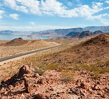 Beautiful alien landscape of Lake Mead, Nevada by mikemaxdesigns
