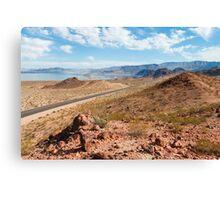 Beautiful alien landscape of Lake Mead, Nevada Canvas Print