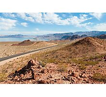 Beautiful alien landscape of Lake Mead, Nevada Photographic Print