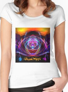 Abstract 52215 Square Women's Fitted Scoop T-Shirt