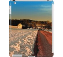 Country road through winter wonderland | landscape photography iPad Case/Skin