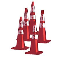 TRAFIC CONES PYLON Photographic Print