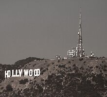 The famous Hollywood Sign by mikemaxdesigns