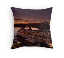 Delta Queen - Chattanooga, Tennessee Throw Pillow