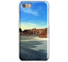 Frozen river panorama | waterscape photography iPhone Case/Skin