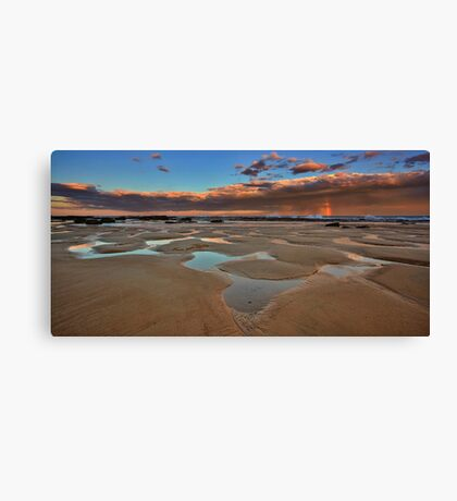 Bar Beach Panorama Canvas Print