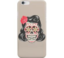Skull girl art iPhone Case/Skin
